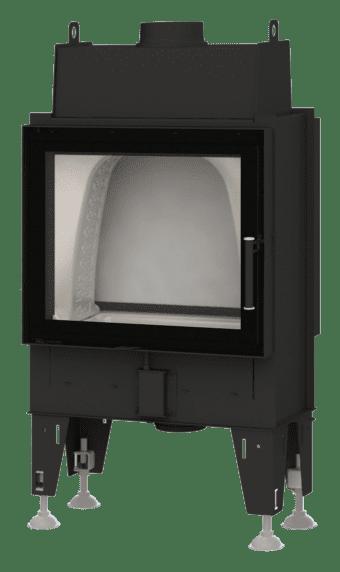 Kamineinsatz BeF Double 6 N Feel - Tunnelversion mit Stahltür hinten