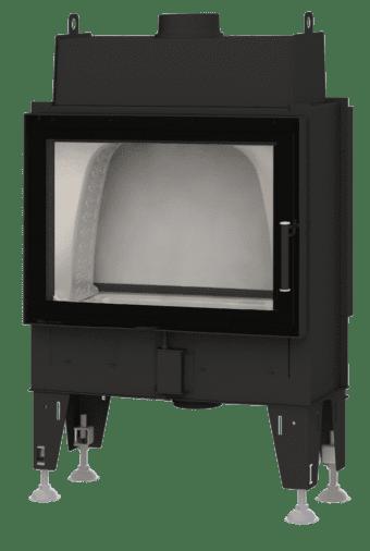 Kamineinsatz BeF Double 7 N Feel - Tunnelversion mit Stahltür hinten