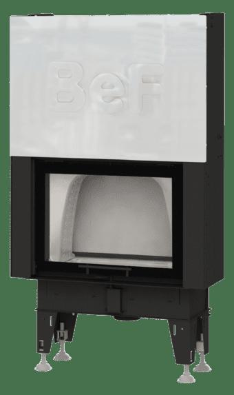 Kamineinsatz BeF Double V 7 N Feel - hochschiebbar, Tunnelversion mit Stahltür hinten