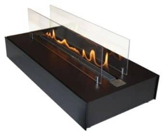 Bio-Ethanolkamin ebios-fire Quadra Base - Schwarz
