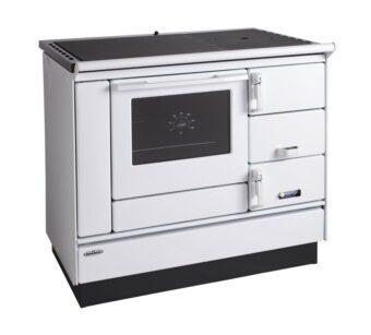 Tischherd KVS Typ 9100 weiß Rahmen schwarz Plastikbeschläge