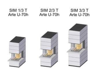 Kaminbausatz Spartherm SIM Arte U-70h mit Feuertisch
