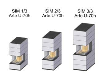 Kaminbausatz Spartherm SIM Arte U-70h