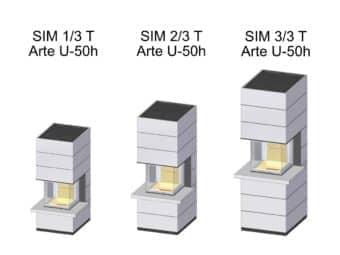Kaminbausatz Spartherm SIM Arte U-50h mit Feuertisch