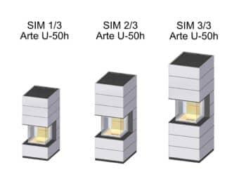 Kaminbausatz Spartherm SIM Arte U-50h