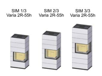Kaminbausatz Spartherm SIM Varia 2R-55h