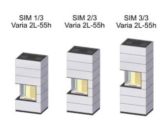 Kaminbausatz Spartherm SIM Varia 2L-55h