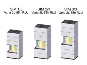 Kaminbausatz Spartherm SIM Varia 2L-55h RLU