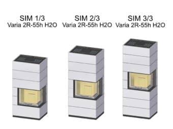 Kaminbausatz Spartherm SIM Varia 2R-55h wassergeführt