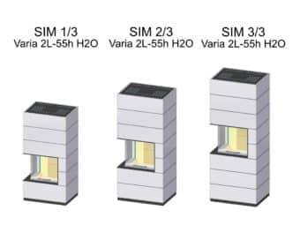Kaminbausatz Spartherm SIM Varia 2L-55h wassergeführt