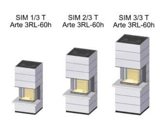 Kaminbausatz Spartherm SIM Arte 3RL-60h mit Feuertisch