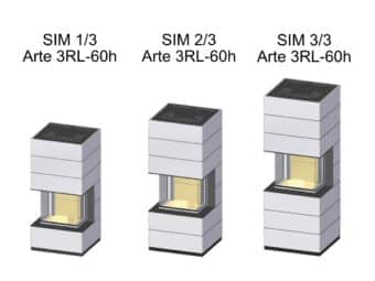 Kaminbausatz Spartherm SIM Arte 3RL-60h