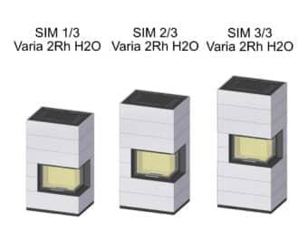 Kaminbausatz Spartherm SIM Varia 2Rh wassergeführt