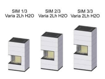 Kaminbausatz Spartherm SIM Varia 2Lh wassergeführt
