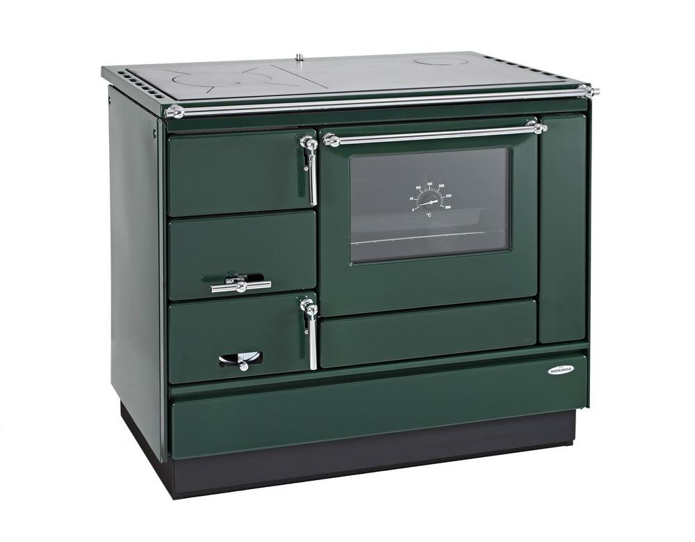 Tischherd KVS Typ 9100 grün Rahmen grün Chrombeschläge